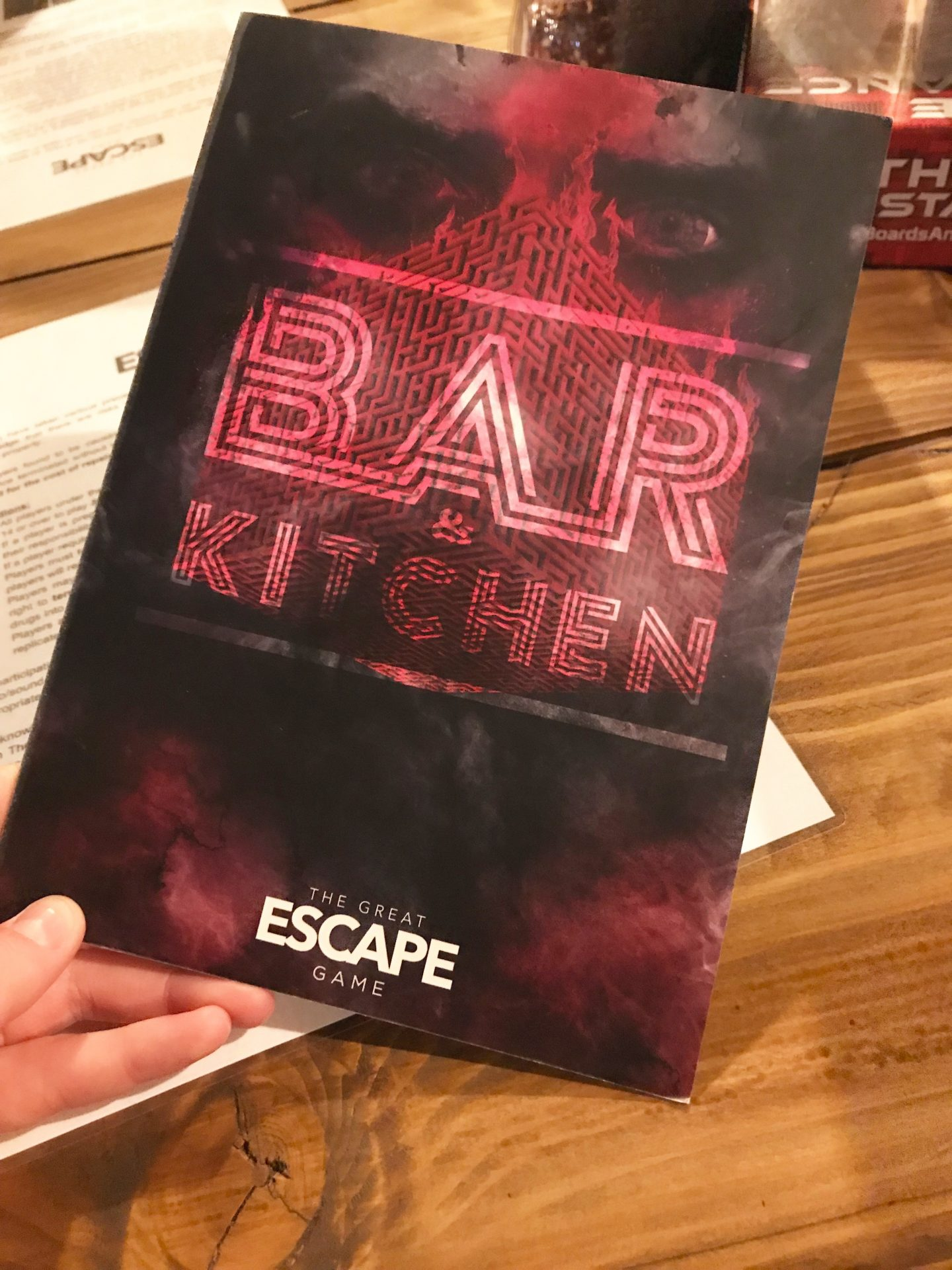 The Great Escape Game menu
