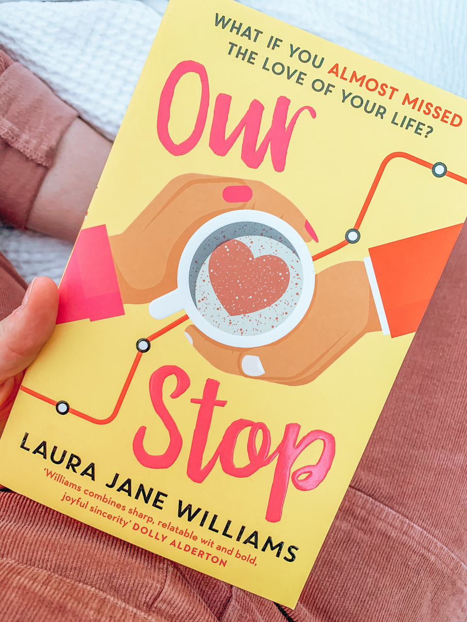 20 books to read in 2020 Our Stop by Laura Jane Williams book cover featuring coffee cup